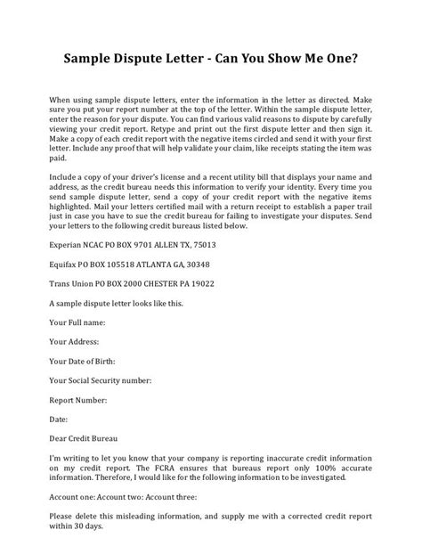 Dispute Letter To Credit Card Company Sle Credit Dispute Letter Template Credit Repair Secrets Exposed Here Credit Repair