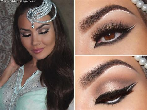 Eyeliner Arab quot wintry quot arabic makeup tutorial maryam maquillage arabic makeup tutorial