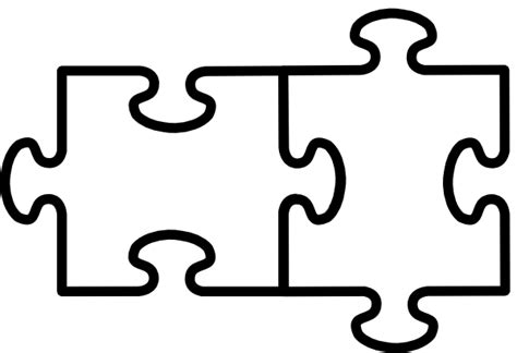 two puzzle pieces clipart