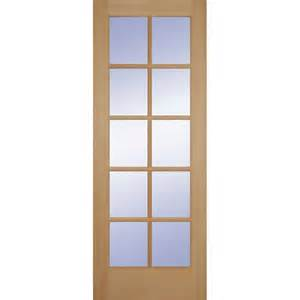 Interior Doors At Home Depot Builder S Choice 36 In X 80 In Hemlock 10 Lite Interior Door Slab Hd1510s30 The Home Depot
