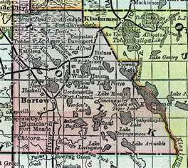 polk county map map of polk county florida 1888