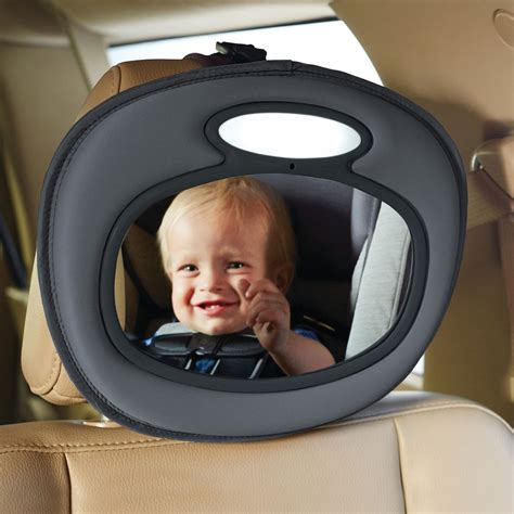 baby mirror with light night light baby in sight mirror car seat mirror