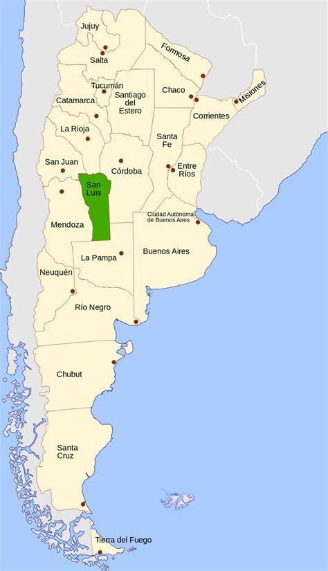 santiago estero argentina san luis province