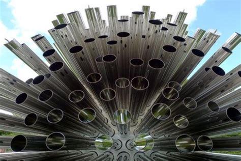wind architecture aeolus pavilion is a gigantic acoustic sculpture that