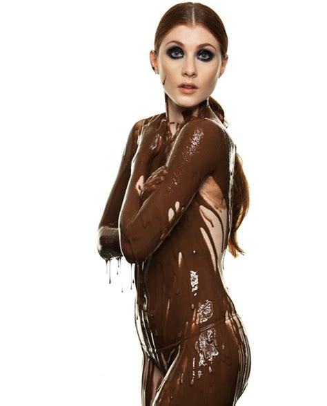 pictures top models covered in chocolate metro uk