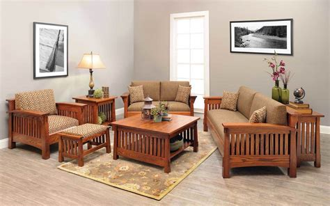 Living Room Wooden Chairs - mission county style living room set