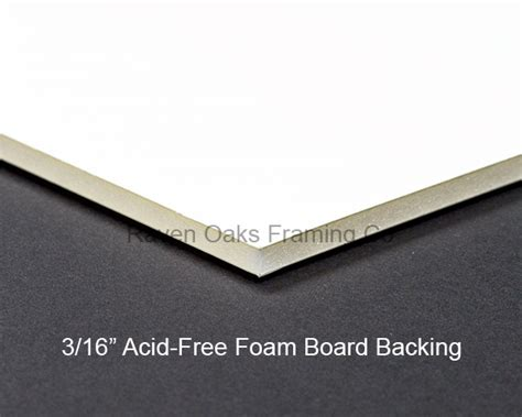 Acid Free Mat by Jet Black White Conservation Matboard Custom Cut