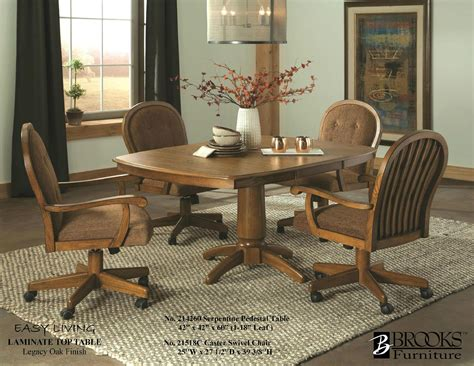 Dining Room Kitchen Table With Swivel Chairs