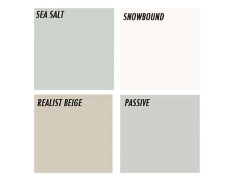 sherwin williams realist beige sherwin williams paint sea salt snowbound realist