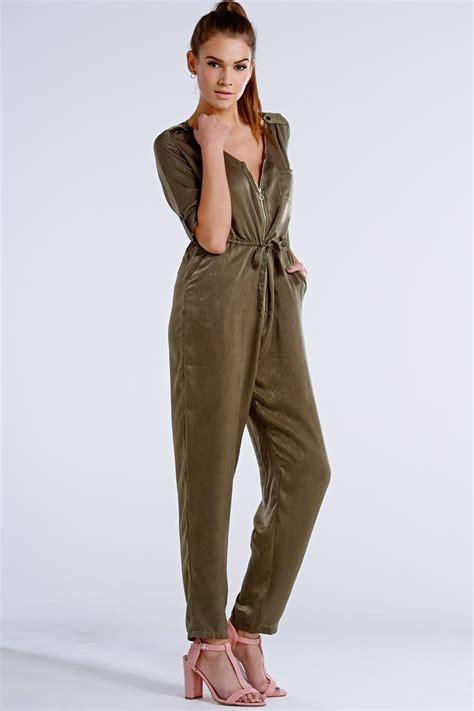 Jumpsuit Khaki outlet on khaki 3 4 sleeve jumpsuit outlet