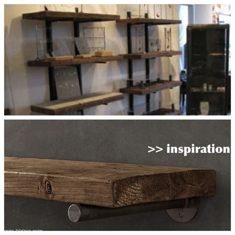 wood and metal wall shelves wood and metal wall shelves for the home
