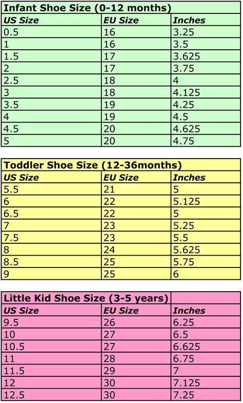 size conversion chart shoes youth style guru fashion