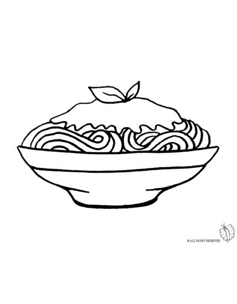 pasta spaghetti coloring pages