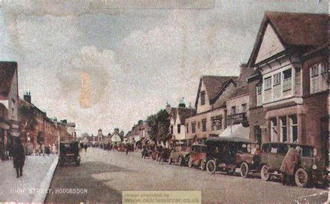 old vintage images postcard of hoddesdon 1920s