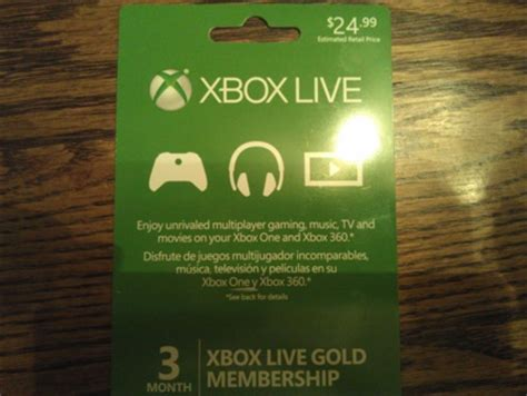 free 24 99 xbox live gold 3 month membership gift card gift cards listia com