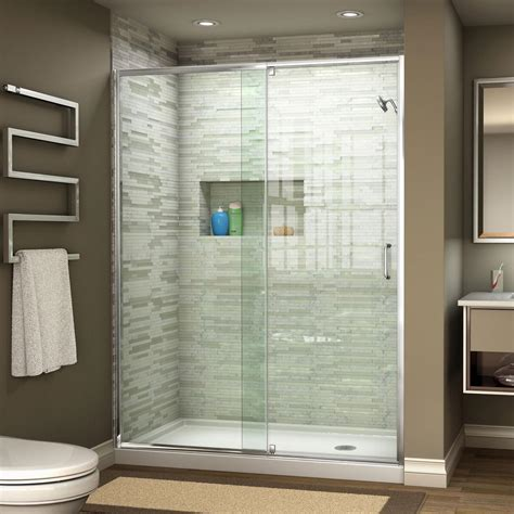 shower door dreamline flex 44 in to 48 in x 72 in framed pivot