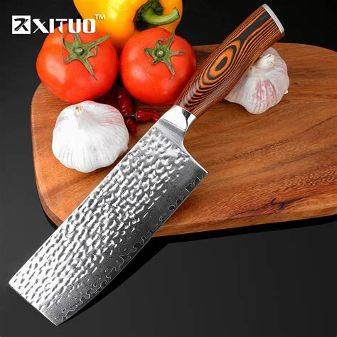 xituo 7 inch damascus chef knife japanese vg10 steel