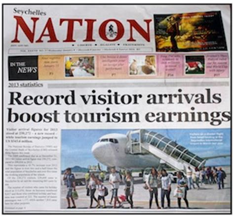 global travel media blog archive seychelles daily nation newspaper records  islands