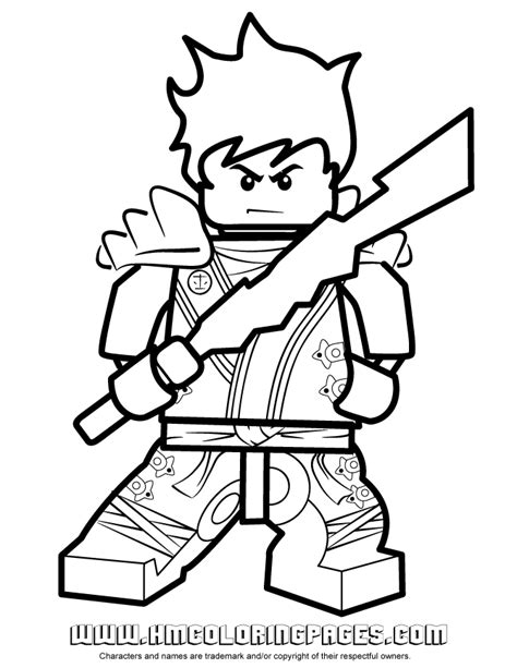 free kai lego ninjago coloring pages