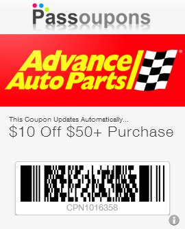 Advance Auto Parts Gift Card Discount - advance auto parts coupons for passbook