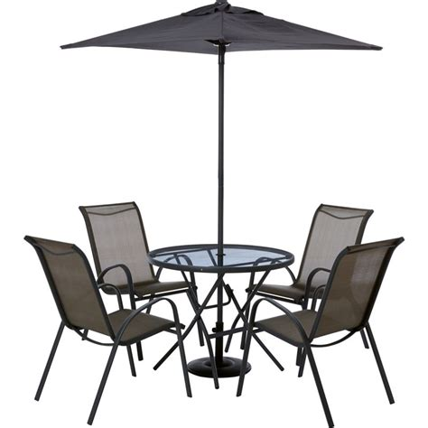 garden table and chairs set homebase sale on andorra 4 seater metal garden furniture set home
