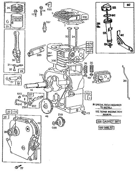 parts diagram for briggs stratton engine briggs and stratton engine diagrams automotive parts
