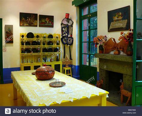mexico mexico city coyoacan casa azul museo frida kahlo kitchen stock photo royalty free image