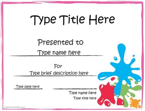 student council certificate free word templates clipart