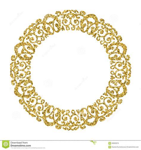 Wallpaper Stiker Motif Luxury Blue Line 1 guld prydnad f 246 r cirkel runt ramfoto bl 228 nka guld vektor