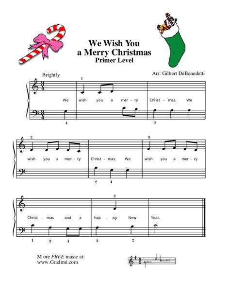 merry xmas piano
