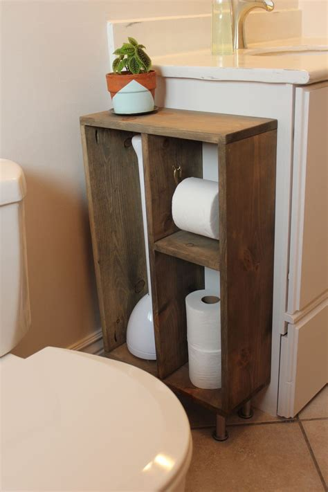 bathroom vanity storage hide unsightly toilet items with this diy side vanity