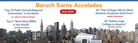 Baruch Healthcare Mba Curriculum by Baruch College The City Of New York Cuny