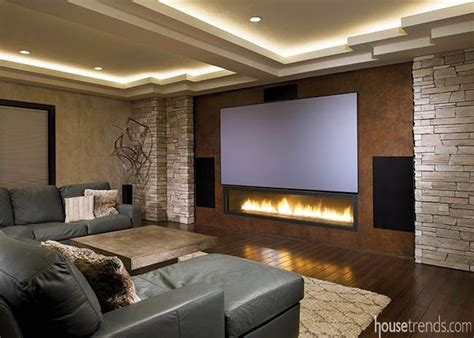 home cinema lighting design this home theater design includes rope lighting in the
