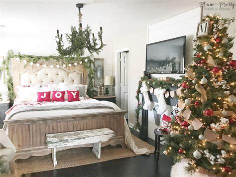 plum pretty decor design  farmhouse christmas bedroom