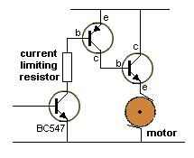 current limiting resistor required the transistor lifier