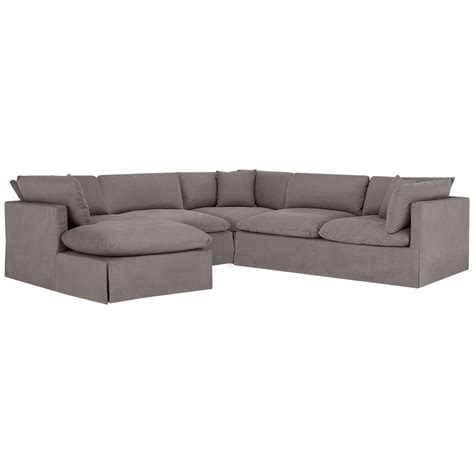 gray fabric sectional with chaise city furniture raegan gray fabric small left chaise sectional
