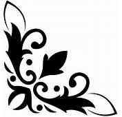 Floral Design Decorative Corner Wall Art Sticker