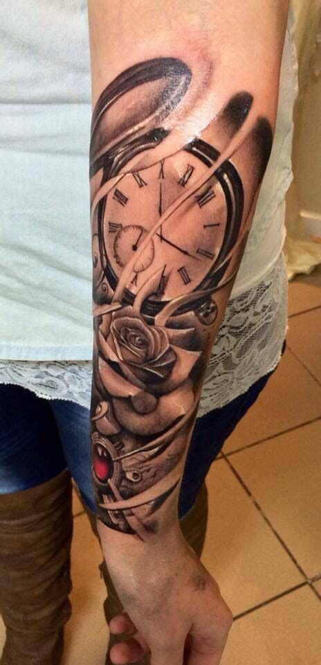 timepiece tattoo beautiful skin pinterest