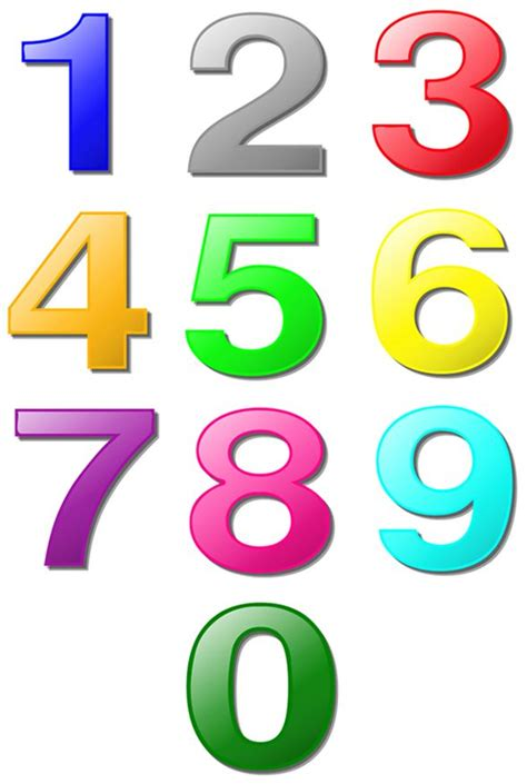 large printable numbers download colored numbers to print printable pages