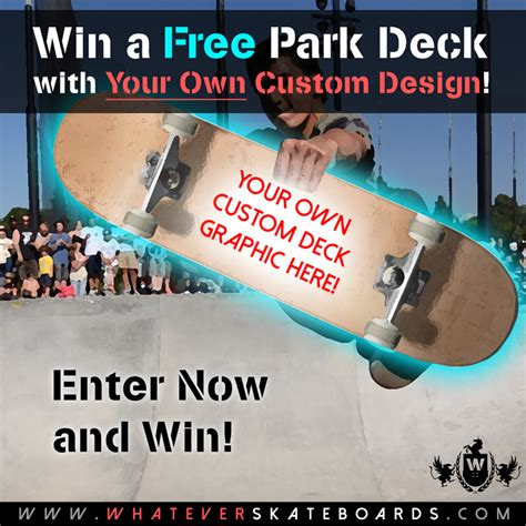free skateboard win your own custom deck every 1st friday - Free Skateboard Deck Giveaway