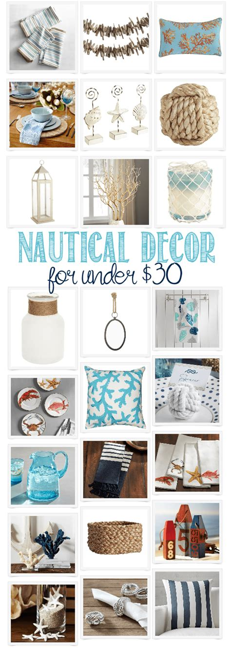 nautical decorating nautical home decor under 30 domestically speaking