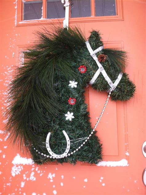 christmas decorating with horses 17 best images about wreaths and others designs of wreaths on pine