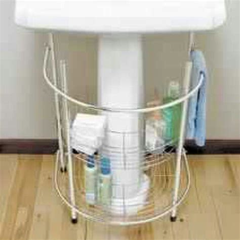 sink storage for a small bathroom pedestal sink