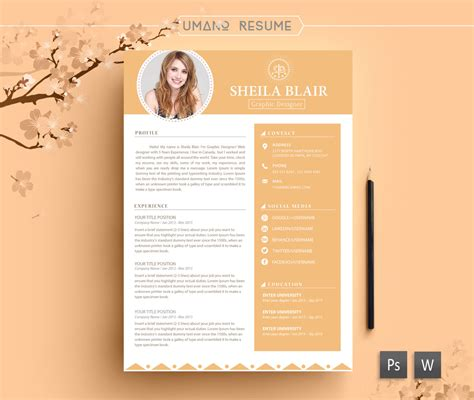 psd template resume and cover letter resume template free cover letter for word ai psd diy