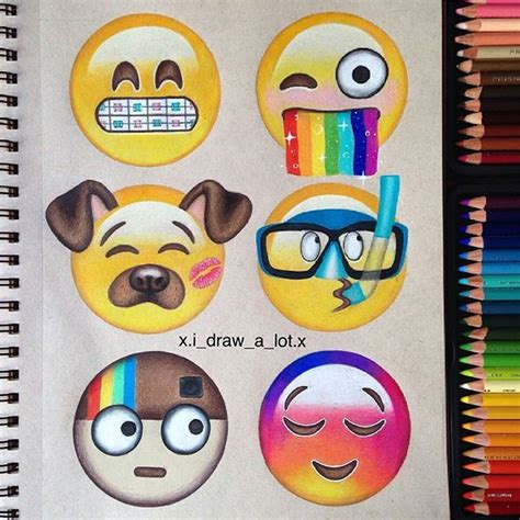 viber doodle ideas creative and emojis by xi draw a lot x follow