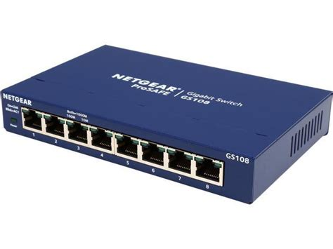 Switch Network netgear prosafe 8 port gigabit ethernet switch gs108 lifetime warranty newegg