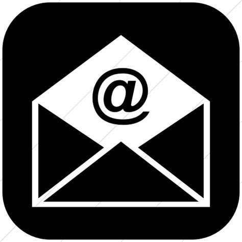 email icon email icon black and white simple www pixshark com
