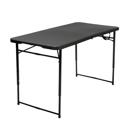 Adjustable Height Folding Table 4 Height Adjustable Folding Table In Black 14402blk1e