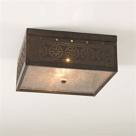 Punched Tin Ceiling Light by Square Ceiling Light Fixture