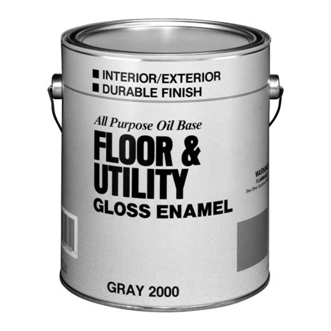 shop valspar utility gray gloss interior exterior porch and floor paint actual net contents